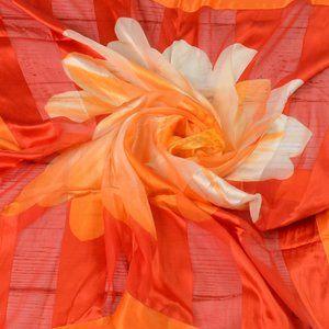 VTG ESCADA Large Square Silk Daisy Floral Scarf …